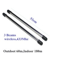 wireless 433mhz DC  3 BEAMS  IR Beam Infrared Barrier Detector Home Yard Window Gate Alarm System SENSOR infrared alarm