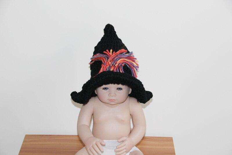 Envío libre, bruja sombrero crochet recién nacido Photo prop bebé ...