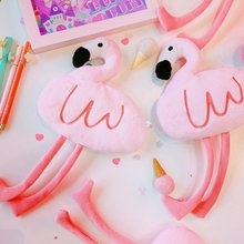 New Products Pink Flamingo Stationery Pencil Case Pencil Case School Supplies High-capacity Pencil Case Animal Pencil Case(China)