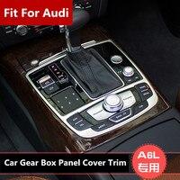 Interior Console Gear Shift Box Pannel Cover Trim For Audi A6 C7 2012 2015