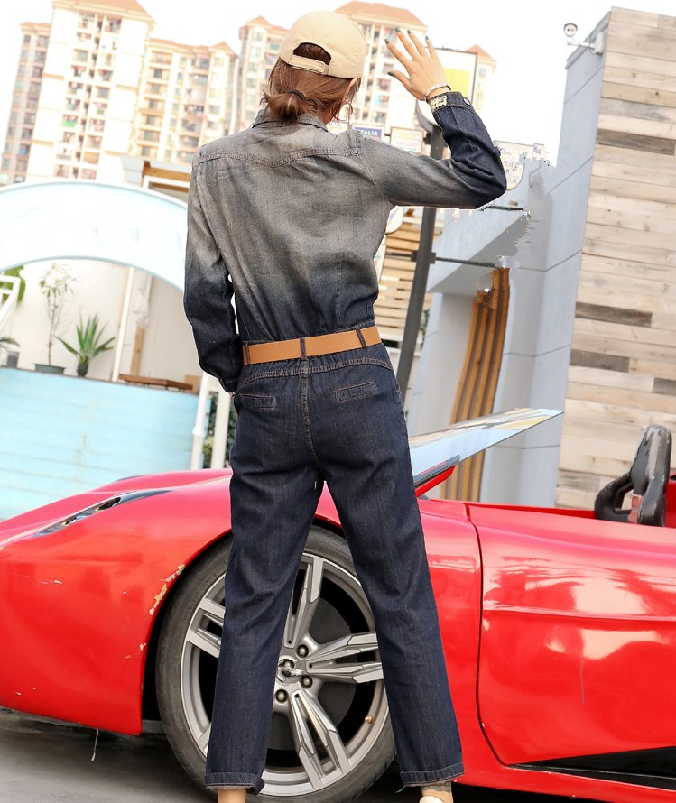 Cowboy Élégant Bleu Wang Peint Jeans Vintage Style Printemps Denim Mode Femmes Whitney Automne 2019 Combinaisons Bronzage Streetwear Bf ZTxq6dq