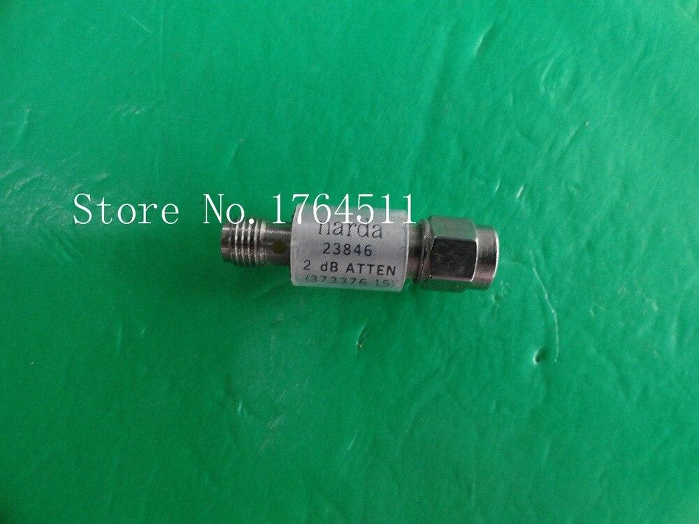 [BELLA] NARDA 23846 DC-18GHz Att:2dB P:2W SMA coaxial fixed attenuator  –2PCS/LOT