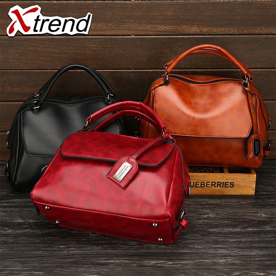 Xtrend Brand Winter Female Leather Bags Women Fashion Handbag Shoulder Bags Crossbody Tote Bolsas Woman Bag 2018 Hot Sale Baobao hot sale open front geometry pattern batwing winter loose cloak coat poncho cape for women