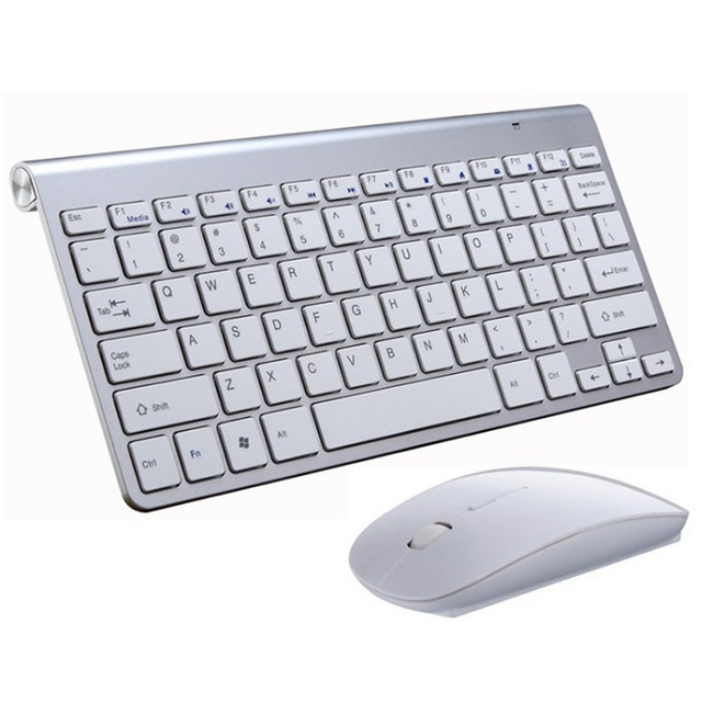 Wireless Mini Multimedia Keyboard and Mouse