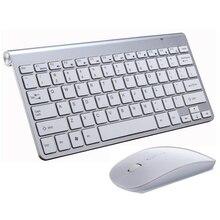 2.4G sans fil clavier et souris Mini multimédia clavier souris ensemble combiné pour ordinateur portable ordinateur portable Mac ordinateur de bureau TV fournitures de bureau