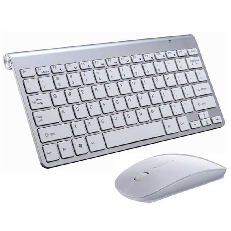 2,4G Беспроводная клавиатура и мышь Мини мультимедийная клавиатура мышь комбо набор для ноутбука ноутбук Рабочий стол Mac PC tv офисные принадлежности