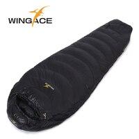 WINGACE Fill 1000G Goose down sleeping bag adult mummy ultralight hike winter tourist outdoor Equipment camping sleep bags