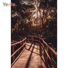Yeele Landscape Family Photo Wood Bridge Grunge Paint Photography Backdrop Personalized Photographic Background For Studio