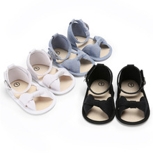 Baby Girl Sandals Anti-slip Shoes Bowknot Princess Shoes Toddler Girl Shoes Casual Soft Bottom Sandals 0-18M
