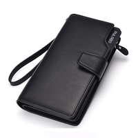 Brand New Genuine Leather Men Wallets Large Capacity Business Designer Clutch Bag For Man Black Brown