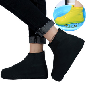 Rain Cover For Shoes Waterproof Rubber Anti Slip Rainny Boot Overshoes Raincoat Reusable Silicone Insoles Shoes For Travel