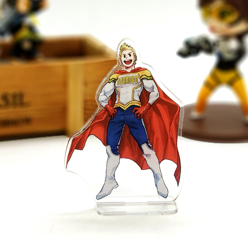 Love Thank You My Boku No Hero Academia Mirio Togata Lemillion Small Acrylic Stand Figure Model Plate Holder Cake Topper Anime