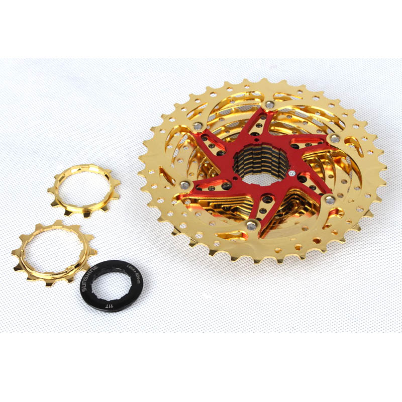 MTB Mountain Bike Bicycle 10S Cassette Freewheel 10 Speeds Flywheel 11-36T Teeth Crankset Bicycle Parts 392g bicycle freewheel  mtb mountain bike bicycle 10s cassette freewheel 8 speeds flywheel 11 13 15 18 21 24 28 32 36t teeth crankset