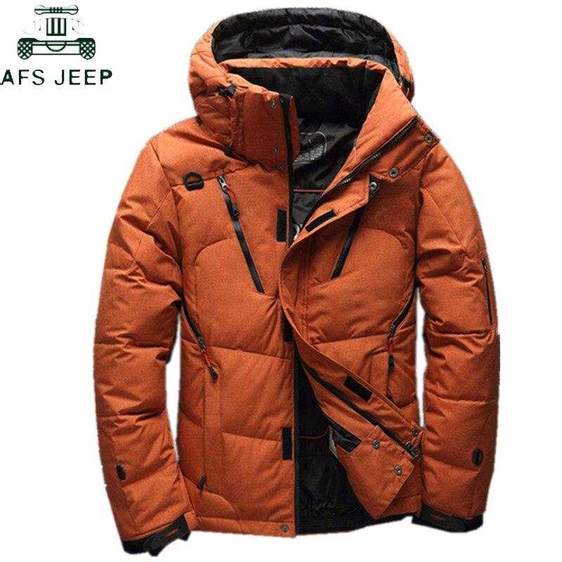 2018 Hohe Qualität 90% Weiße Ente Dicke Daunen Jacke Mantel Männer Schnee Parkas MÄnner Warme Marke Kleidung Winter Unten Jacke Plus Größe 3xl