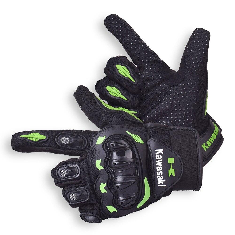 Kawasaki Riding Motorcycle Gloves Protective Motocross Motor Glove Male Biker Motorbike Tactical ATV Downhill Moto Sports Gloves