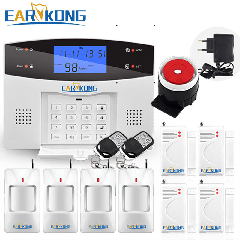 Earykong Home do Assaltante do Sistema de Alarme de Segurança GSM, NOVO 850/900/1800/1900 de Sinalização Sem Fio, sensor de movimento, Sensor de Alarme De Casa Inteligente
