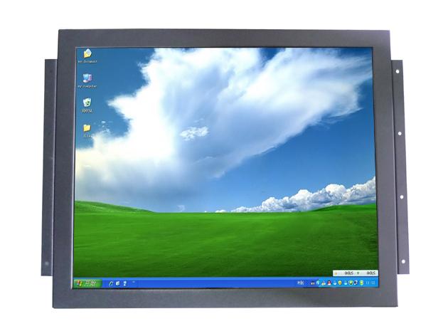 17 polegada aberto quadro suporte de parede SAW toque monitor & Metal de exibição do quadro com VGA e AV com PC para dentro