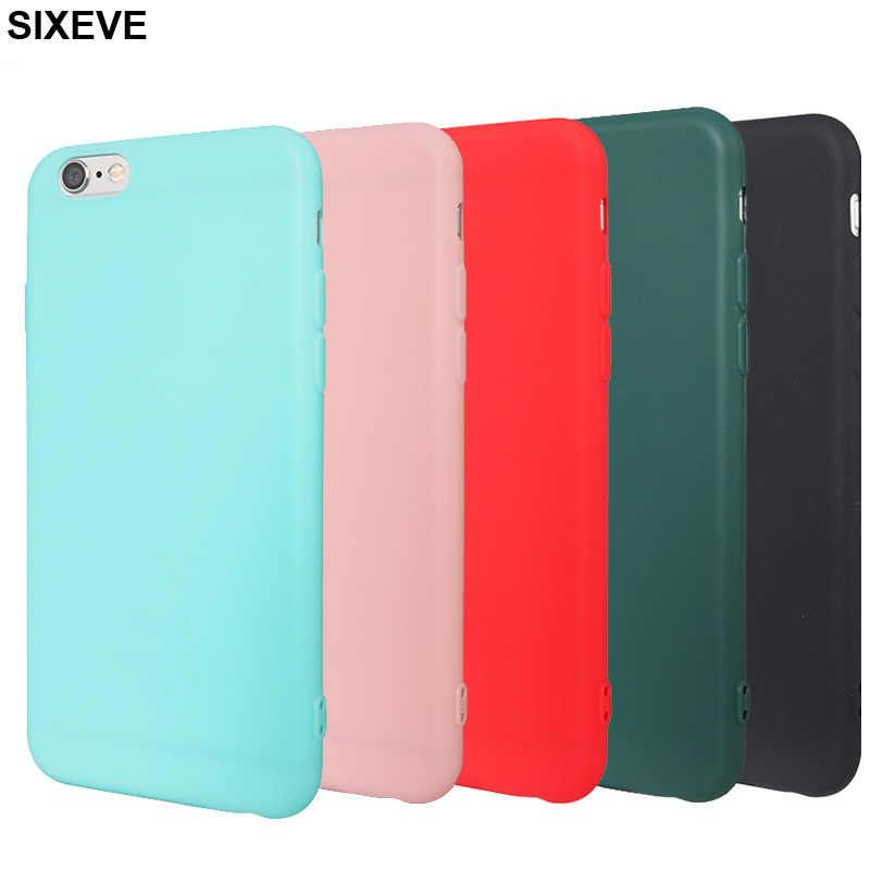 Luksusowe proste silikonowe etui dla iPhone 6 s 6S 7 7S iPhone 8 Plus X 10 5 5S 5SE iPhone 6Plus 6SPlus 7Plus 8 Plus obudowa telefonu komórkowego