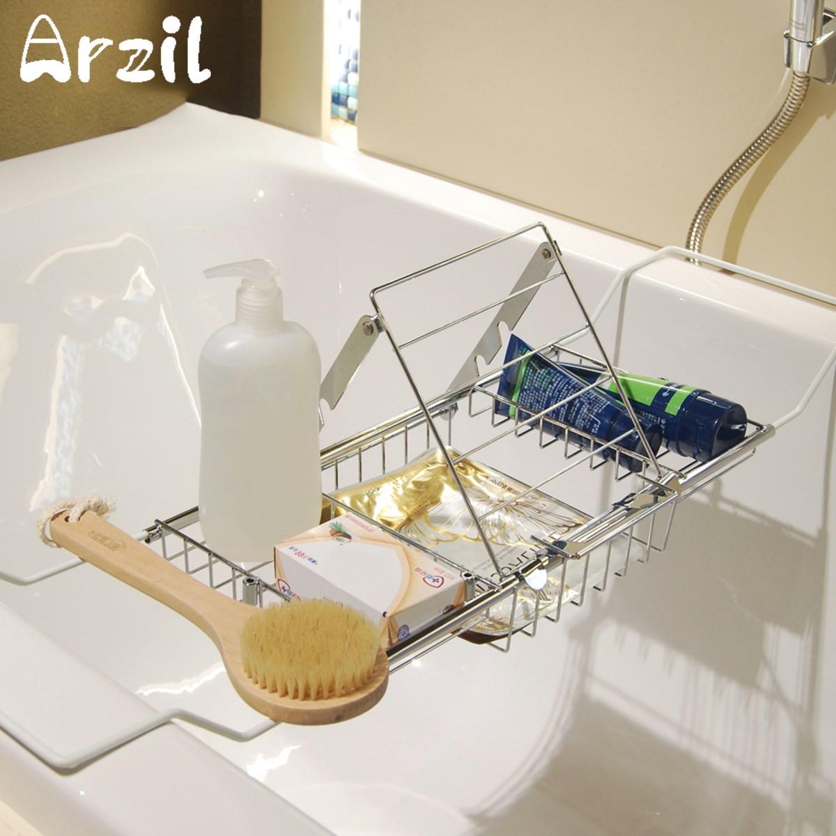 Bath Shower Tub Storage Organizer Holder Bathroom Bathtub Caddy Soap ...