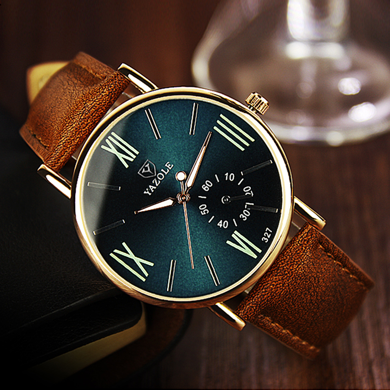 2019 Yazole Watch Fashion Student Leisure Men Watches Business Men Luminous Roman Designer Watch Relogio Masculino Quartz-watch