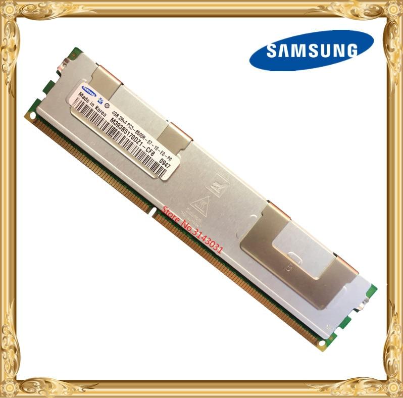 Samsung Server memory DDR3 4GB 8GB 1066MHz ECC REG Register DIMM PC3-8500R RAM 240pin 8500 4G samsung server memory ddr3 8gb 16gb 1600mhz ecc reg ddr3 pc3 12800r register dimm ram 240pin 12800 8g 2rx4 x58 x79