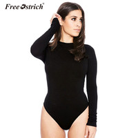 Free Ostrich Sexy Long Sleeve Bodysuits Women Skin ...