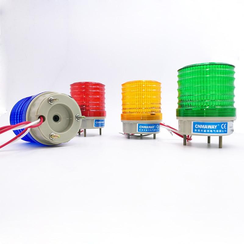 N-5041J Buzzer Indicator Light Strobe Signal Warning Light Lamp Small Flashing Light Security Alarm 12V 24V 220V LED