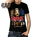 Slipknot Heavy Metal T-Shirt For Male O-Neck Casual Cotton Hip-Hop Tees Fashion StreetWear Novelty Tide Brand Black Men Shirts