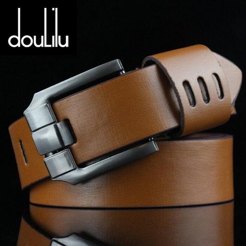 Sale Vintage PU Leather Belt Men's Punk Cowboy Casual Pin Buckle Belt High New Fashion Quality Mens Belt For Jeans Long 110cm