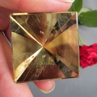 33*35mm Natural Citrine Yellow creastly pyramid Points Single Terminated Crystal Polished