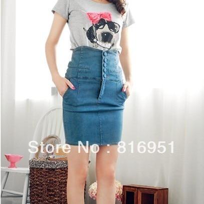 Online Shop fashion skirts formal skirt short jeans skirt women's ...