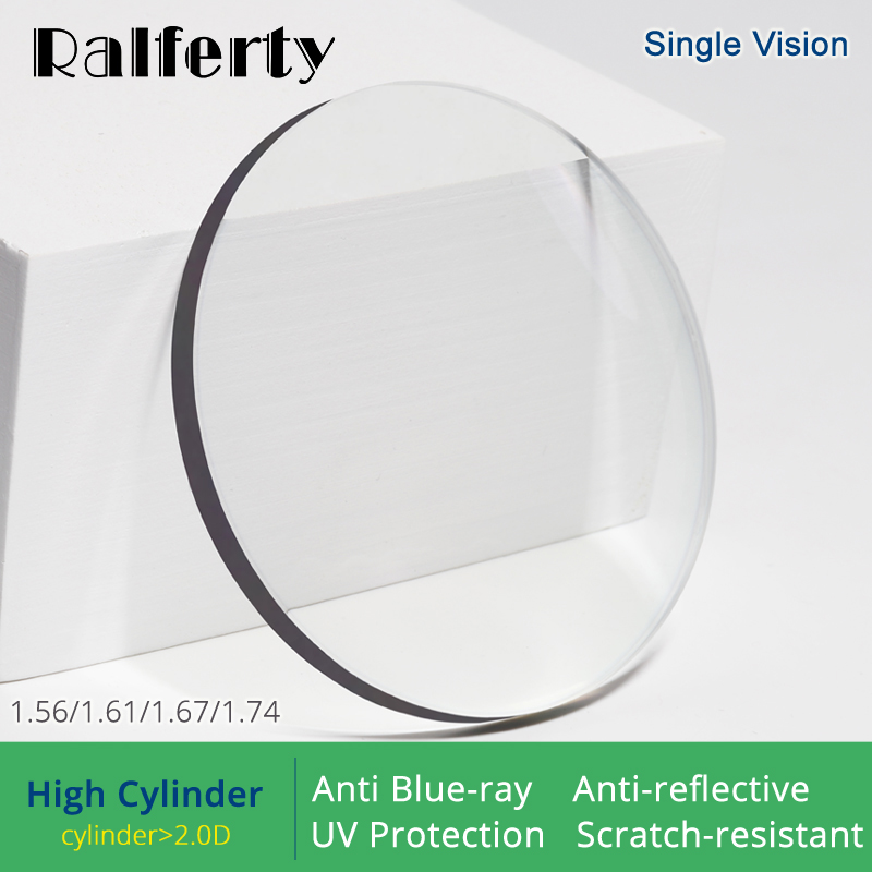 Ralferty (High Cylinder) 1.56 1.61 1.67 1.74 Optical Lenses Anti Blue Light Prescription Glasses Lens Eyes Clear Diopter Lentes