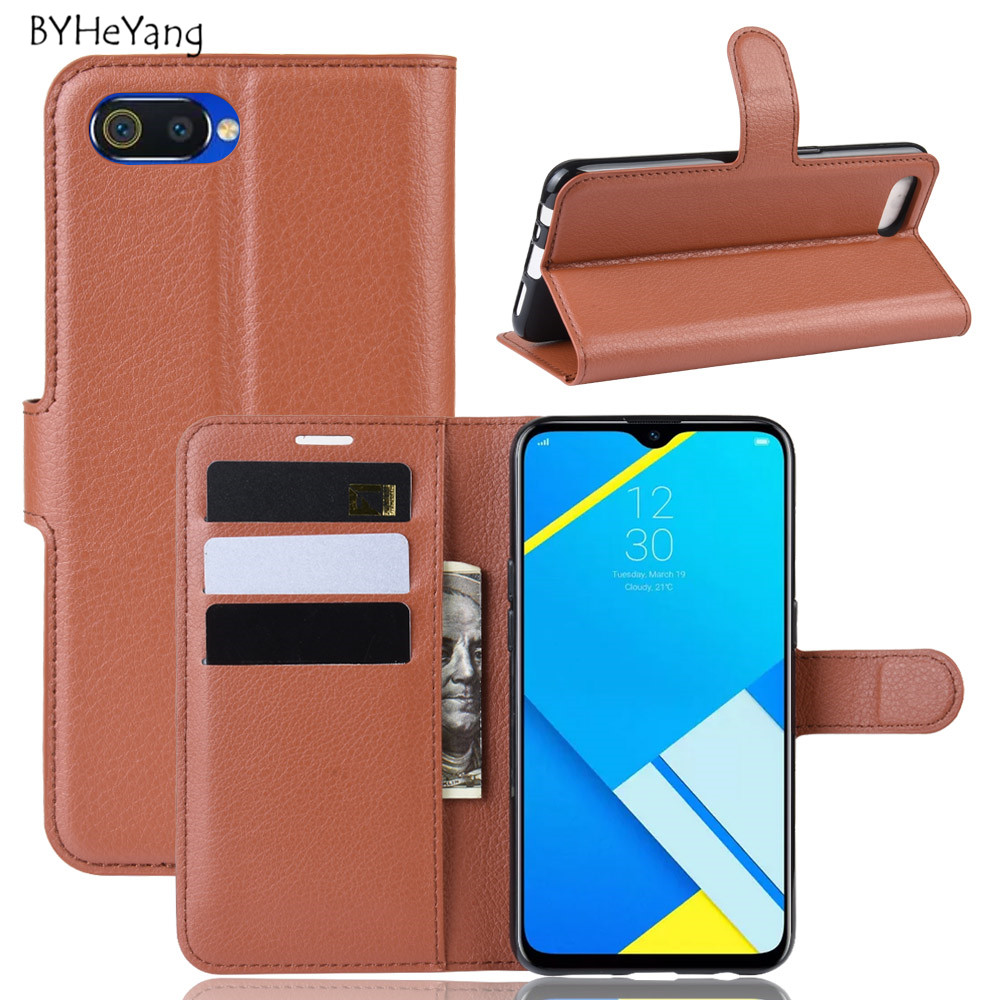 Realme C2 Case Realme C2 Case Cover Flip PU Leather Wallet Case Card Slot Capa for OPPO Realme C2 RealmeC2 RMX1941 Phone Bag