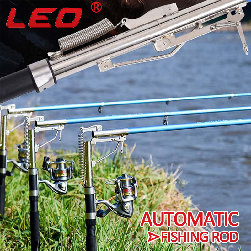 leo FRP Self-lifting Sea Fishing Pole Superhard Automatic Fishing Rod Durable