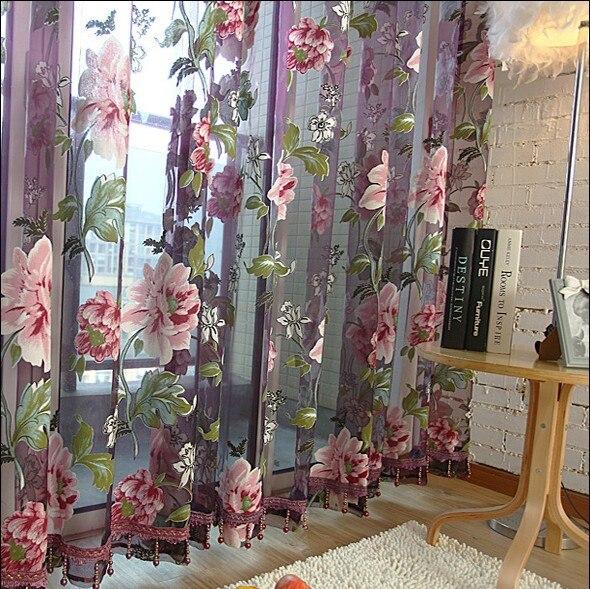 hot viola tulle per le finestre di lusso tende trasparenti per la cucina soggiorno alla camera