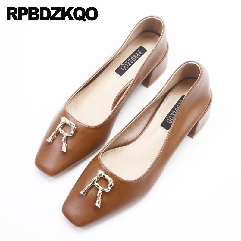 Cuadrada Apricot Zapatos Medianos Alto Tacones 2018 Retro Mujeres EzqIYq 78b3367aa284
