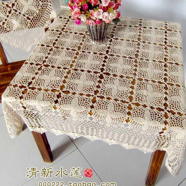 Free Shipping ZAKKA Fashion Design Square Lace Tablecloth
