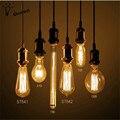 40 W lâmpada Retro edison lâmpada st64 vintage Soquete DIY Pingente 27 lâmpada incandescente 220 v luzes do feriado de Corda filamento lâmpada lampada