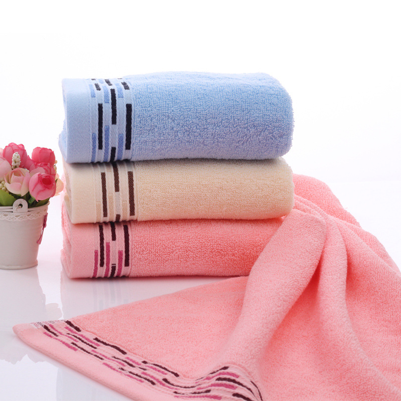 Cotton Towel Washcloth Towel Merchandise Ribbon Soft Absorbent Towel