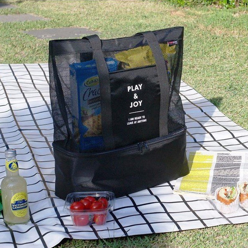Aislamiento térmico mano LunchBags para mujeres Camping comida Picnic bolso más fresco aislado almacenamiento Beach Tote bolsos portátiles