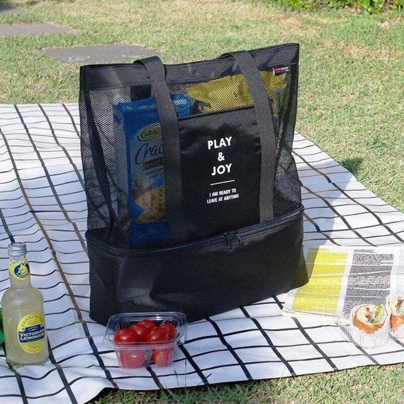 Thermische Isolierung Handheld LunchBags für Frauen Camping Lebensmittel Picknick Kühltasche Isolierte Lagerung Strand Tote Tragbare Handtaschen