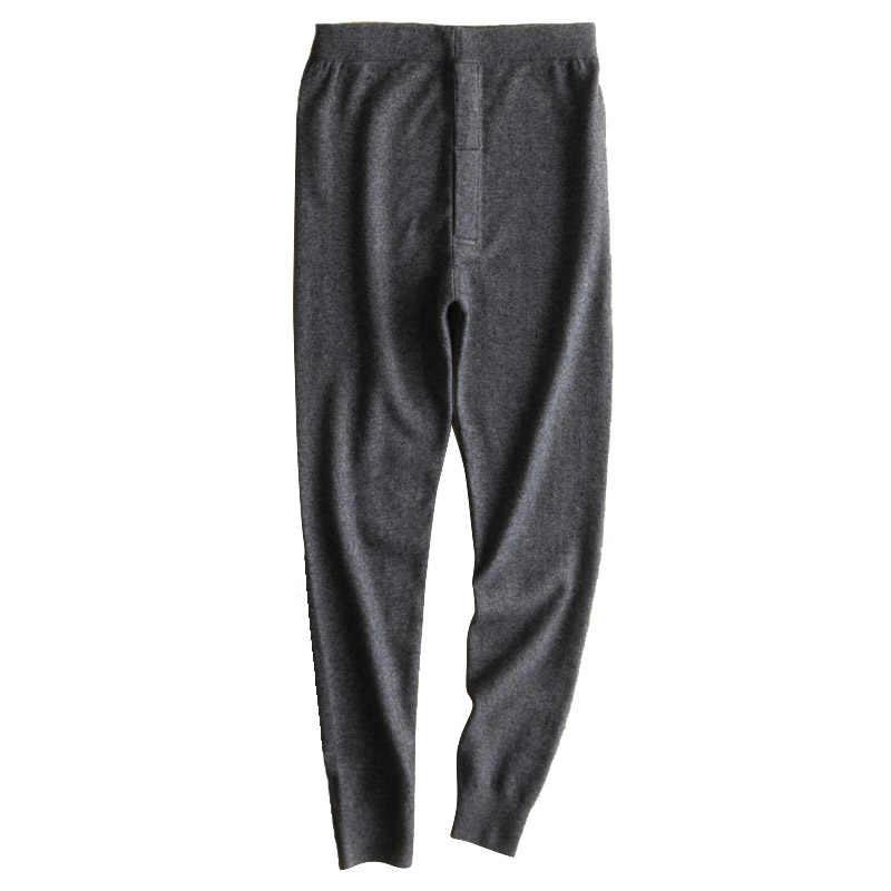 9575270d9c8 Mens Warm Pants For Winter Long Merino Wool Leggings Winter Warm Thermal  Underwear Skinny Fleece Tights