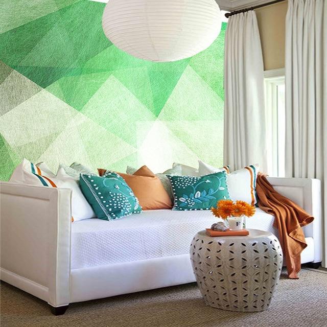 Wallpaper Kustom 2017 New Fashion Abstrak Geometris Desain Mural Untuk Ruang Tamu Sofa Latar Belakang