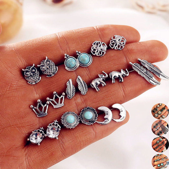 10 Pairs Bohemian Statement Earrings