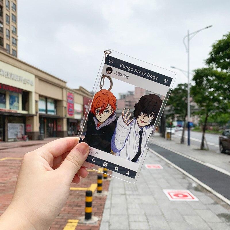 2019 Anime Bungou Stray Dogs Osamu Dazai Chuya Ryunosuke Group Acrylic Keychain Pendant Gifts 8×13cm