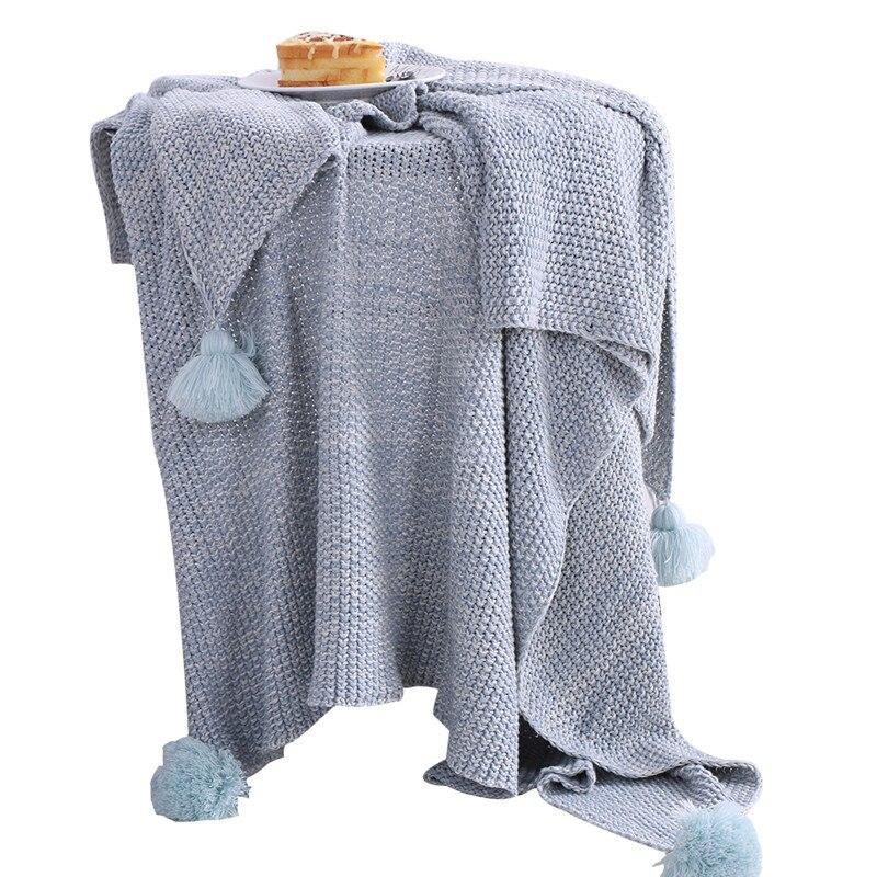 Décorations de noël pour la maison couverture tricotée doux confort adulte couverture rose
