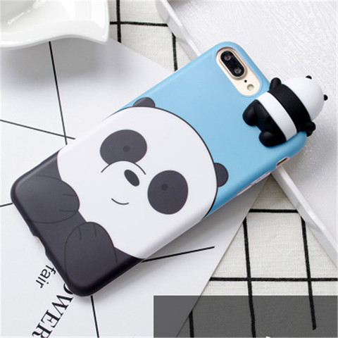 3D Cute Cartoon We Bare Bears brothers funny toys soft phone case for iphone 5 5s 6 6s 7 8 plus 10 X XR XS MAX cover cases coque Islamabad