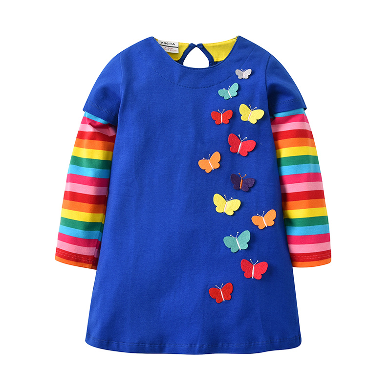 HTB19KOEXdfvK1RjSspfq6zzXFXag VIKITA Kids Girls Dress Baby Children Toddler Princess Dress Vestidos Children's Clothing Girls Winter Dresses 2-8Y LH5805 MIX