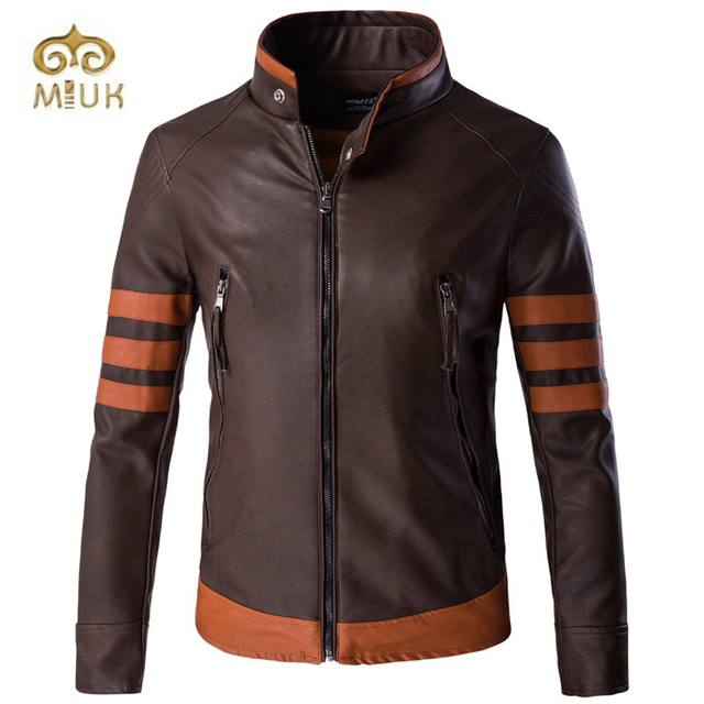 Turleneck Coffee Leather Jackets for Men Jaqueta Masculina Chaqueta Hombre Home Full Pelt Winter Coats