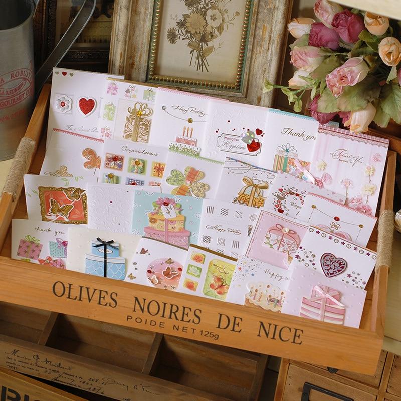 Handmade Mini Happy Birthday Cards With The Envelope,kids